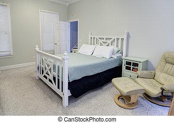 simple bedroom in neutral colors
