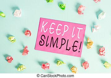 simple., begrijpen, bewaren, foto, gemakkelijk, verfrommeld...