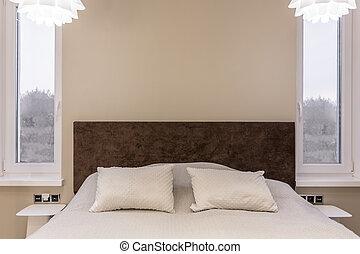 Brun, beige, chambre à coucher. Chambre à coucher, brun,... photos ...