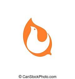 simple bird negative space curves logo
