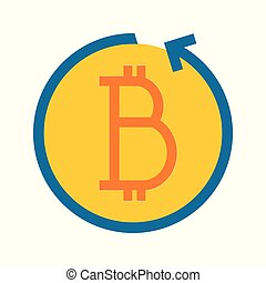 Simple Bitcoin Recycle Vector Illustration Graphic