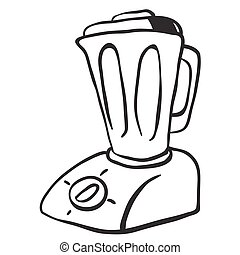 simple black and white blender cartoon