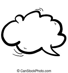 freehand drawn cartoon cloud speech bubble rh canstockphoto com speech bubble clip art free speech bubble clipart png