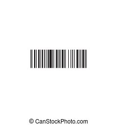 Simple black barcode icon. vector illustration isolated on white background.
