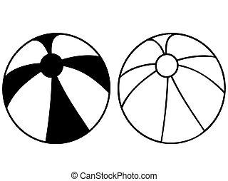 simple black beach ball icon