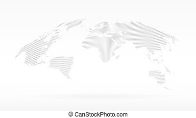 Black halftone world map of small dots in radial vectors simple black dots world map concept of infographics element trip around globalization gumiabroncs Images