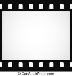 Simple black film strip background. Vector illustration