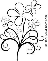 Simple black flower