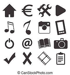 Simple black icon set 1