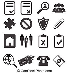 Simple black icon set 14 - Simple black vector icon set,...