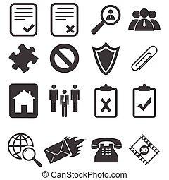Simple black icon set 14 - Simple black vector icon set, ...