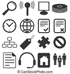 Simple black icon set 15