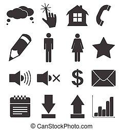 Simple black icon set 2