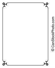 simple black ornamental decorative frame