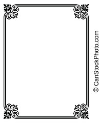 Vector simple black calligraph ornamental decorative frame pattern