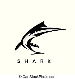 Simple Black Shark Logo