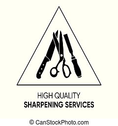 Simple black sharpening services icon vector sign