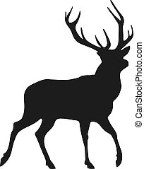 silhouette of the buck - simple black silhouette of the buck...