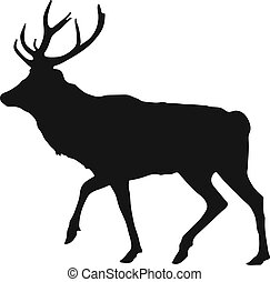 silhouette of the stag - simple black silhouette of the stag...