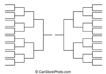 Blank tournament bracket template for world cup competitions  Blank