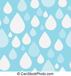 Simple Blue Raindrop Pattern - Simple Blue Retro Raindrop...