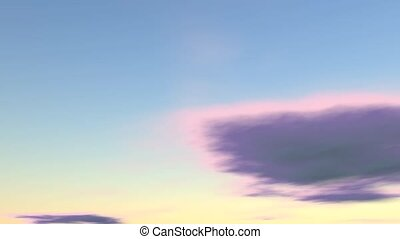 Simple blue sky purple clouds - Simple animated blue sky...