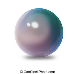 Simple blue sphere - can be used as a button