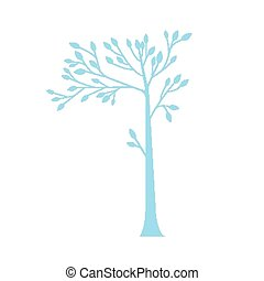 Simple blue tree