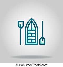 simple boat icon or logo in  twotone - Logo or symbol of ...