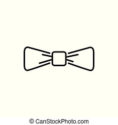 Simple Bowtie Thin Line Icon Illustration Design