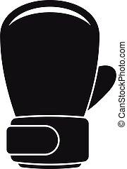 simple, boxe, icône, gant, style