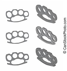 Simple brass knuckle chumbo - Brass knuckle for self defense...