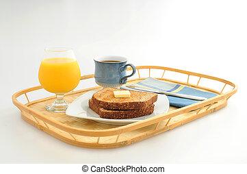 Simple Breakfast - Simple breakfast of toast, coffee and...