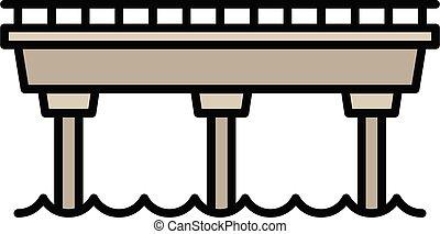 Simple bridge icon, outline style
