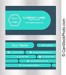 Simple black yellow theme business name card template vector