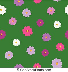 Simple bright cosmos flower pattern