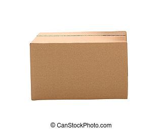 simple brown carton box on white background