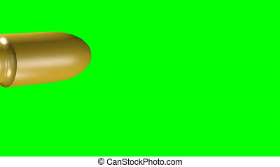 Simple Bullet animation green screen background in 4k UHD resolution.