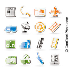 Simple Business and industry icons