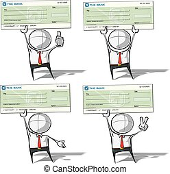 Simple Business People - Check - Set of 4 sparse vector...