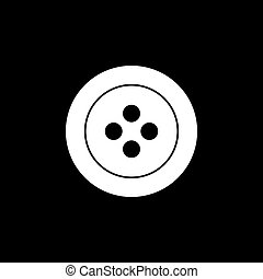 simple button fashion geometric logo vector