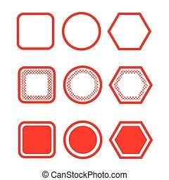 Simple button icon sign design
