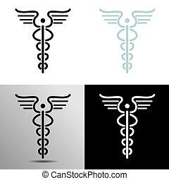 Simple Caduceus Icon - An image of a simple caduceus icon.