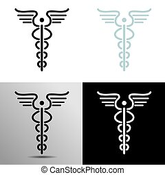 Simple Caduceus Icon - An image of a simple caduceus icon.