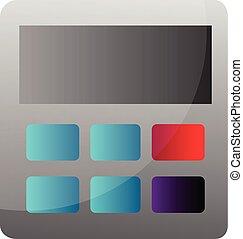 simple, calculatrice, illustration, vecteur, fond, blanc