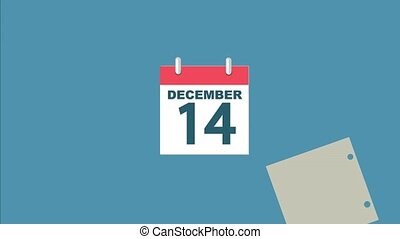 Simple calendar for 2019 year. - Simple animation of...