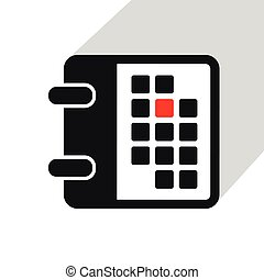simple calendar icon on white background