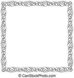 Simple calligraphic frame for design