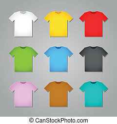 simple, camiseta, plantillas