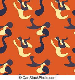 Simple camouflage seamless pattern